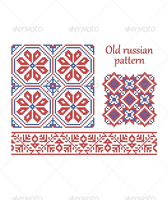 Old russian pattern. - Patterns Decorative