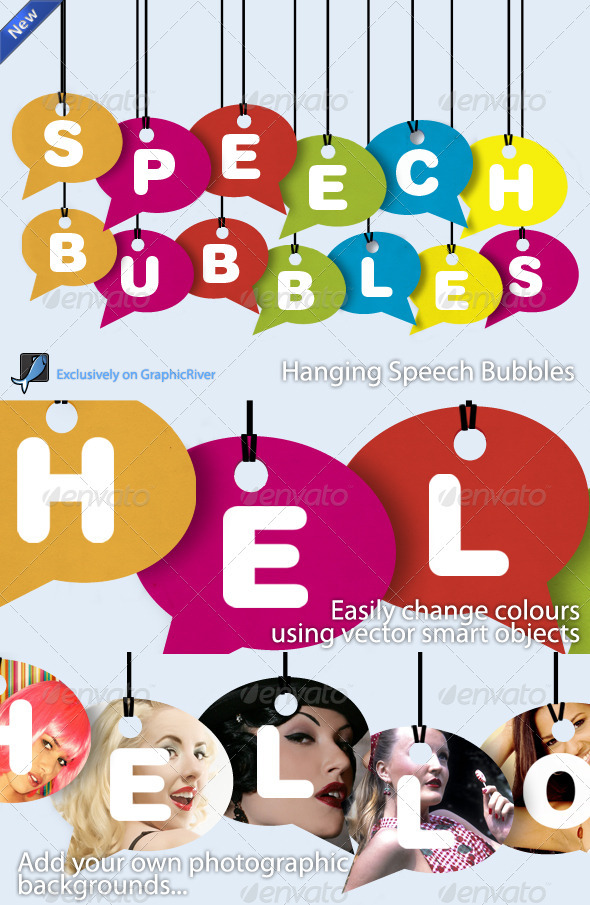 Colourful Speech Bubbles - Miscellaneous Graphics