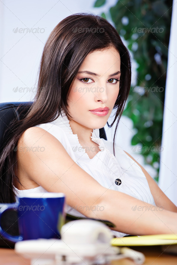 woman in office - Stock Photo - Images
