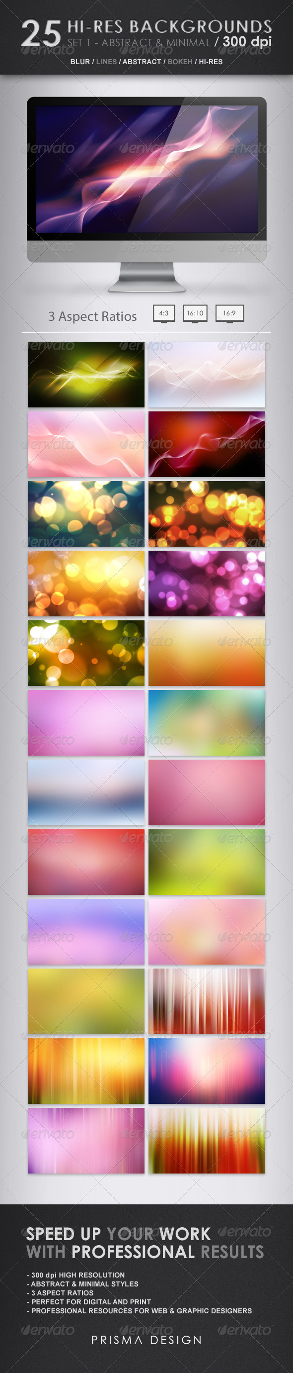 25 Hi-Res Backgrounds - Abstract & Minimal - Abstract Backgrounds