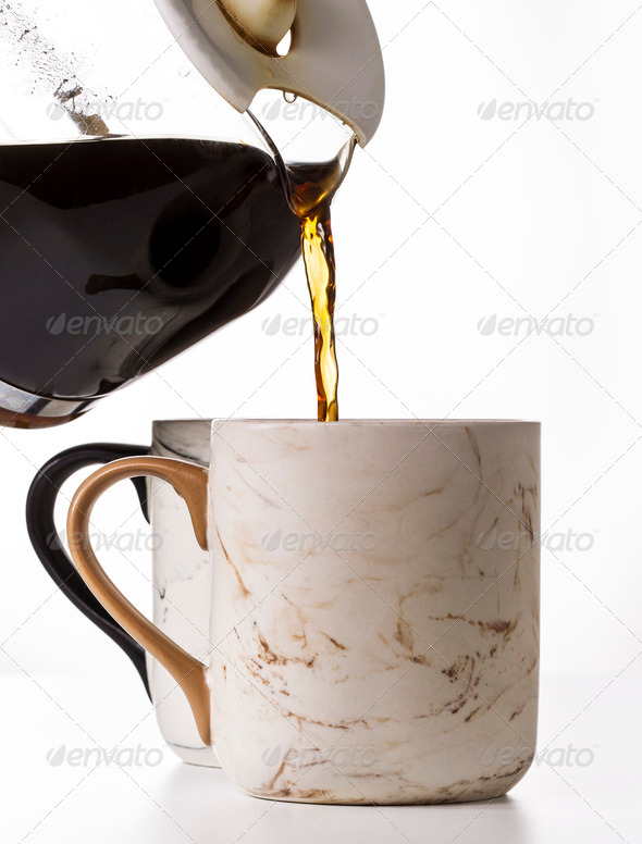 Pouring Morning Coffee - Stock Photo - Images