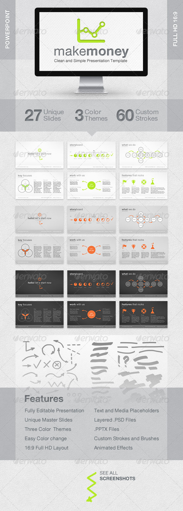 MakeMoney Powerpoint Presentation Template - Powerpoint Templates Presentation Templates