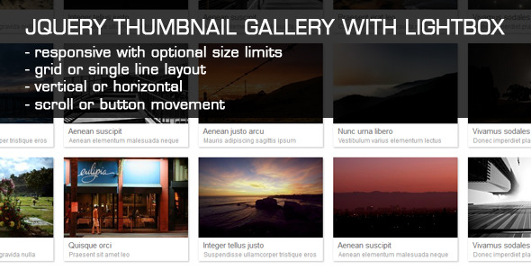 CodeCanyon JQuery Thumbnail Gallery With LightBox 2711906