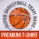 Basketball Player Premium T-Shirt Template  - GraphicRiver Item for Sale