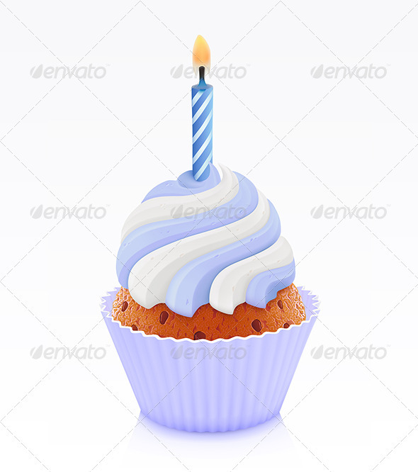 GraphicRiver Blue cupcake 2712318