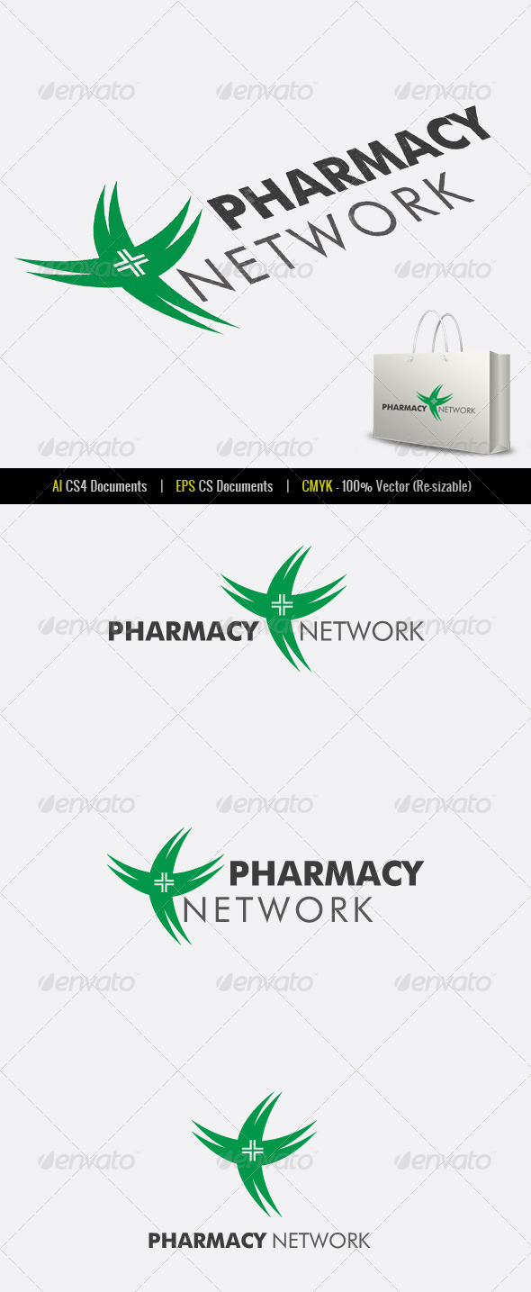 Pharmacy Network Logo Template - Symbols Logo Templates