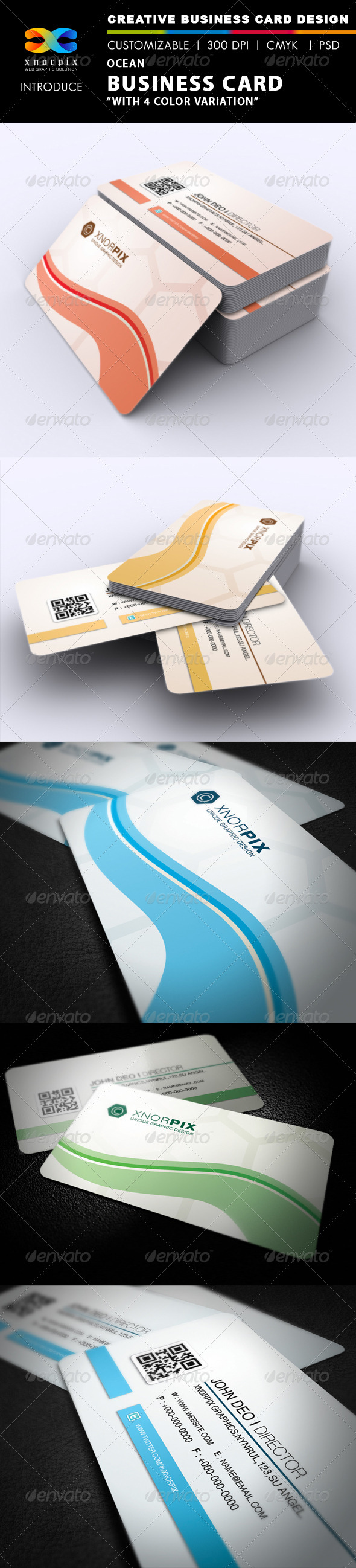Ocean Business Card - Corporate Business Cards