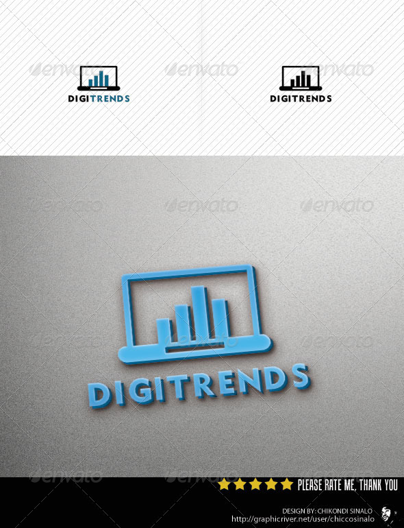 Digi Trends Logo Template - Objects Logo Templates