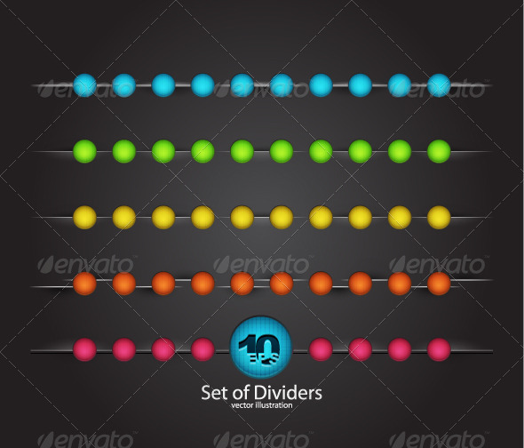 GraphicRiver Color Vector Dividers 2714013
