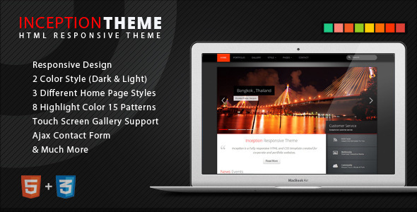 Inception Theme Responsive HTML - Corporate Site Templates