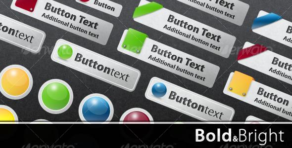 GraphicRiver Bold & Bright Web Buttons 98155