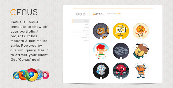 ThemeForest Cenus Modern Minimalist Website Template 480470