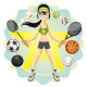 Sporty Girl - GraphicRiver Item for Sale