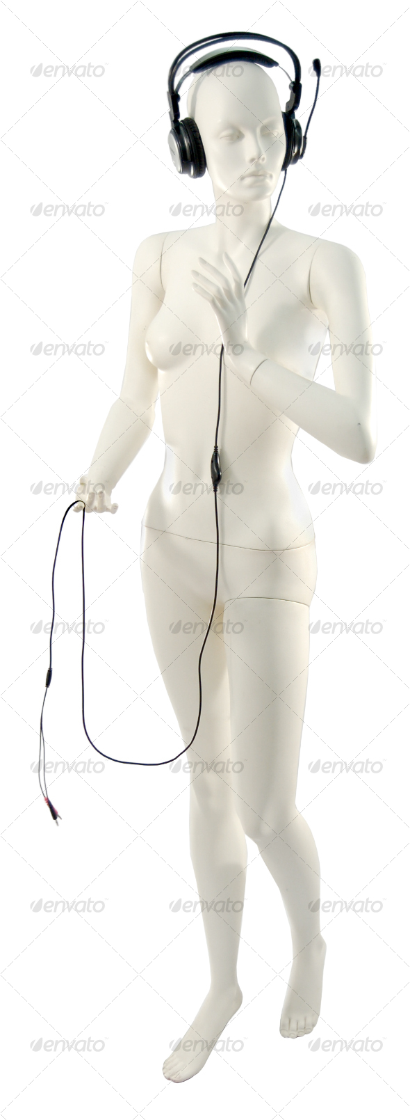 Mannequin with Headphones - Clothes &amp; Accessories Isolated Objects