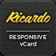 Ricardo - Responsive Personal vCard - ThemeForest Item for Sale