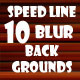10 Speed Line Blur Backgrounds - GraphicRiver Item for Sale