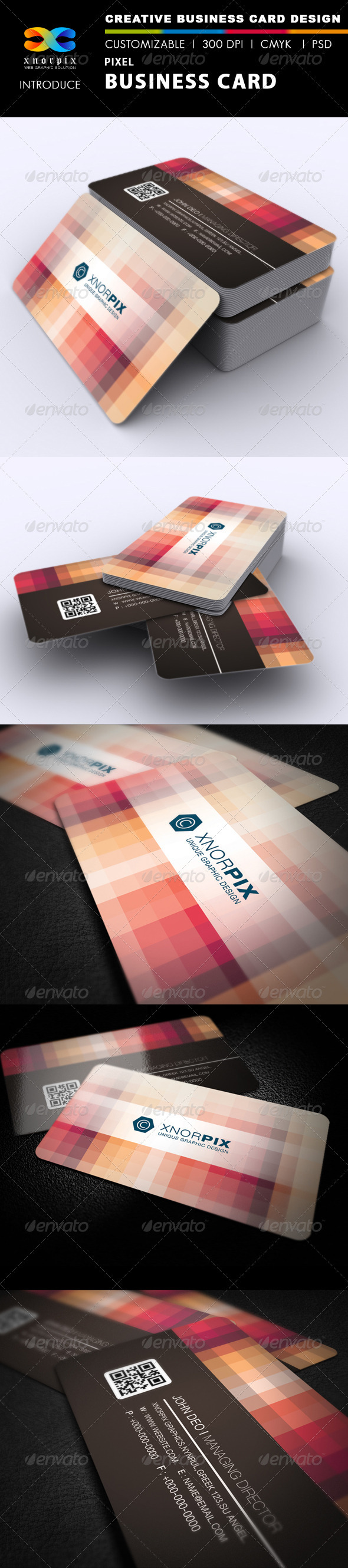 Pixel Business Card - Corporate Business Cards