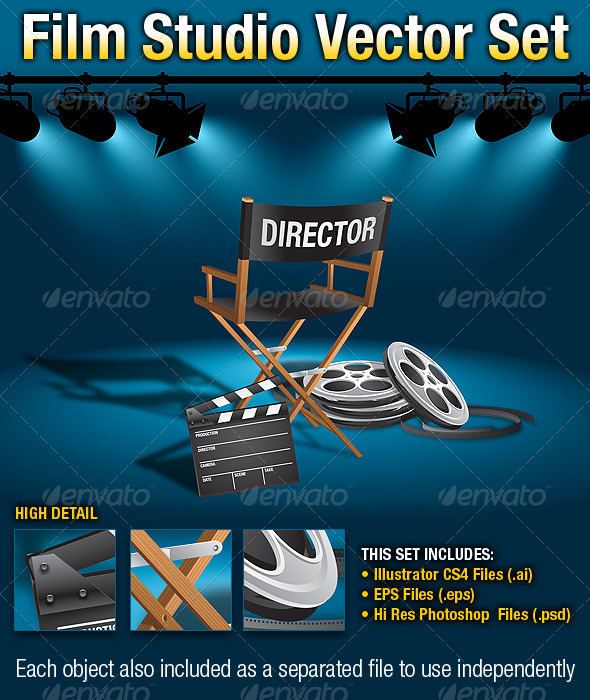 GraphicRiver Film Studio Vector Set 299985