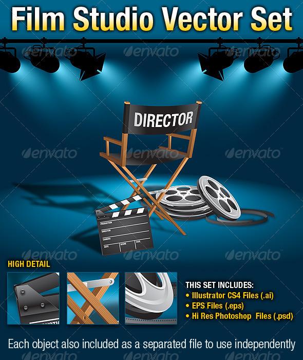 GraphicRiver Film Studio Vector Set 299985