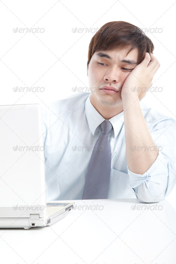 Businessman with stress - Stock Photo - Images