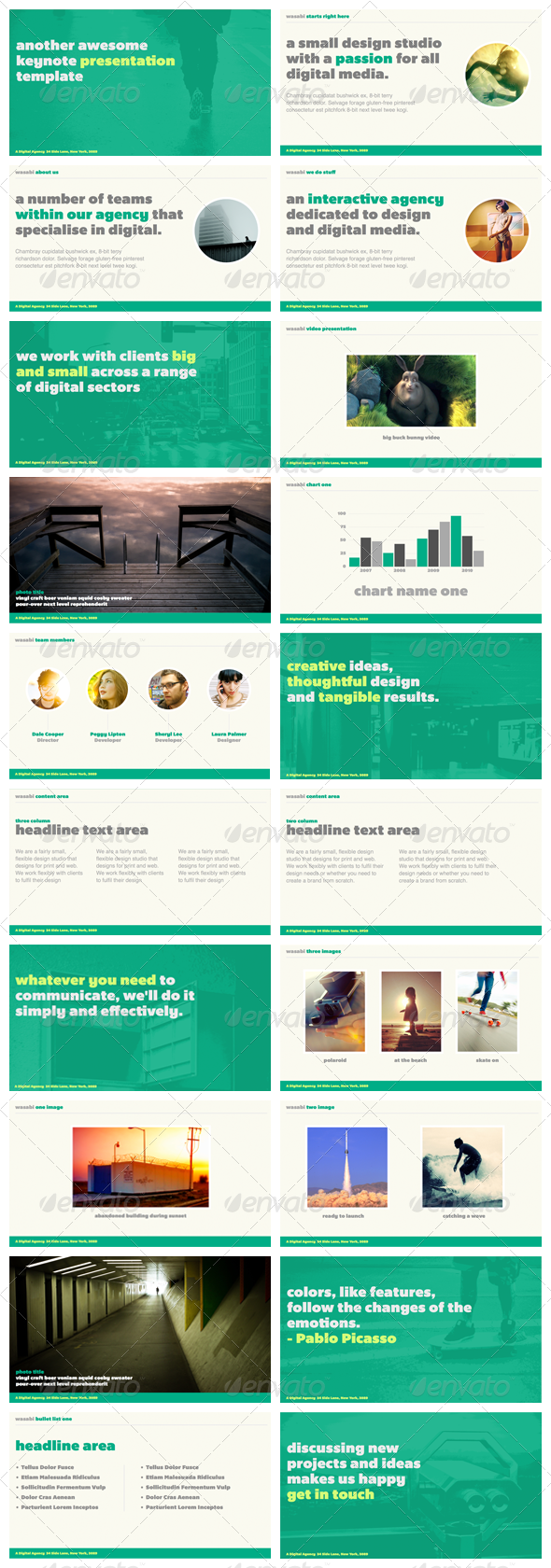 Wasabi - Keynote Presentation Template - Creative Keynote Templates