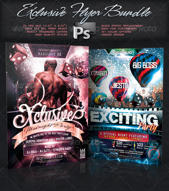 Exclusive Flyer Bundle Vol.4 - Clubs & Parties Events