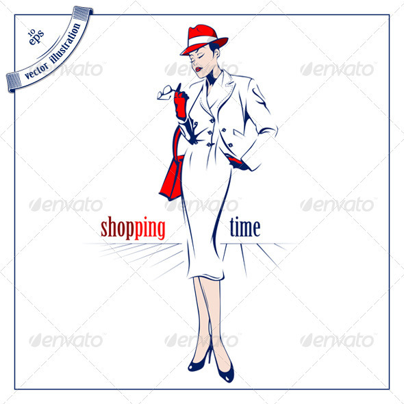 Shopping Beauty Woman - People Characters
