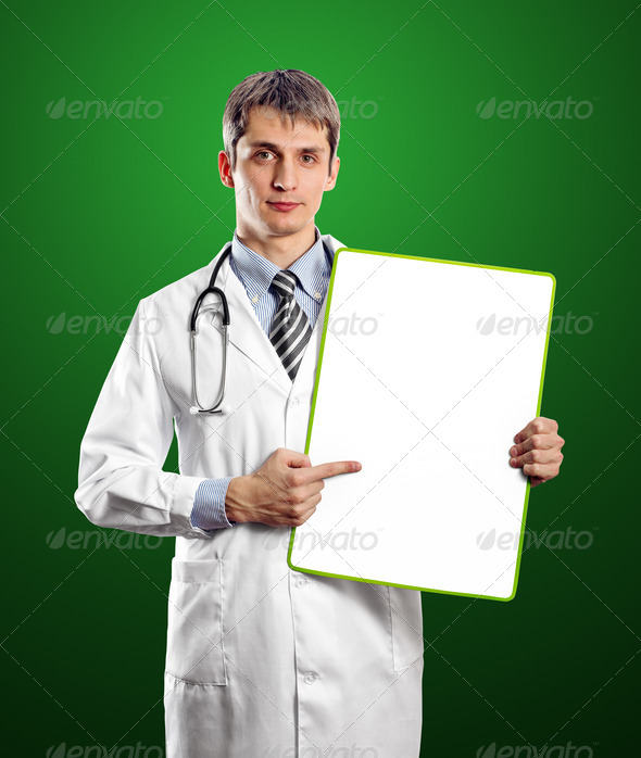 Doctor Man With Write Board - Stock Photo - Images