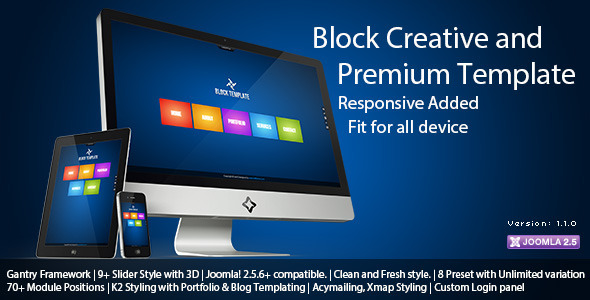 ThemeForest Block Creative and Premium Joomla Template 2558675