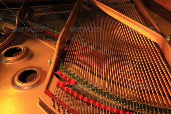 Inside Piano in Twilight - Stock Photo - Images