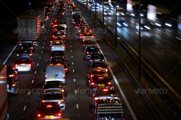 night traffic - Stock Photo - Images