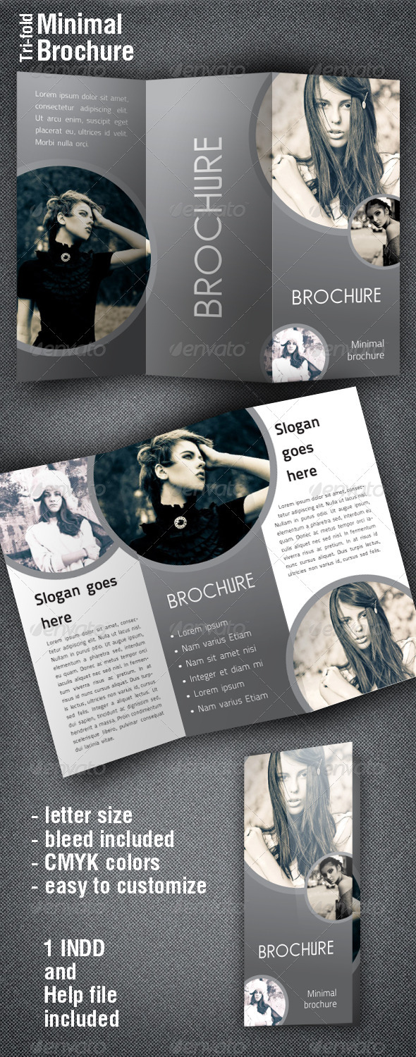 Shaped Brochure - Brochures Print Templates