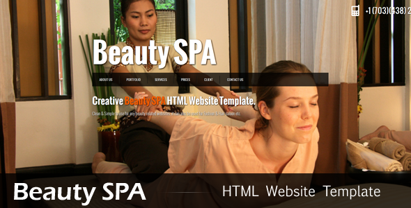 Beauty SPA : jQuery Single Page Website Template - Health &amp; Beauty Retail