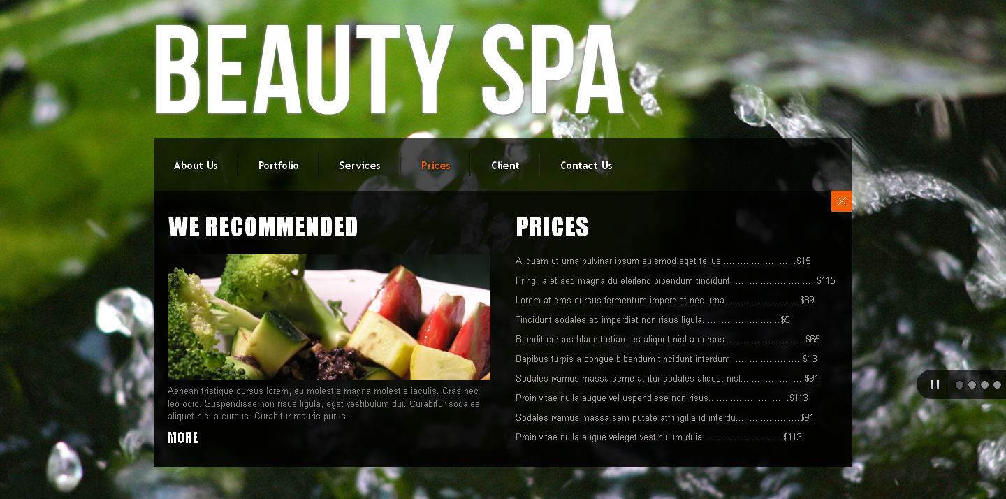 Beauty SPA : jQuery Single Page Website Template