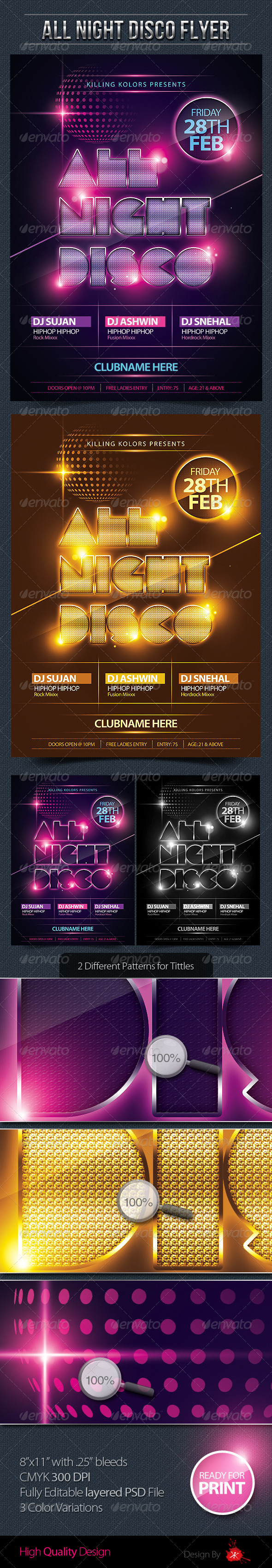 GraphicRiver All Night Disco Flyer 2732199