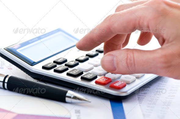 Stock Photo - PhotoDune Tax Calculator And Pen 191228