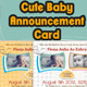 Cute Baby Announcement Card - GraphicRiver Item for Sale