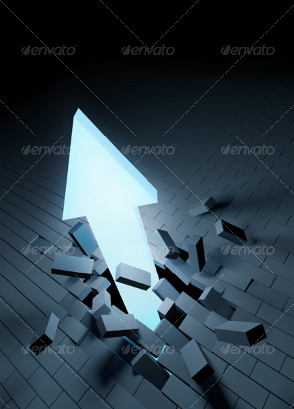 Graphic River Arrow Breakthrough Graphics -  Backgrounds  3D 98739