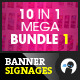 10 In 1 Pro Banner Signages-Graphicriver中文最全的素材分享平台