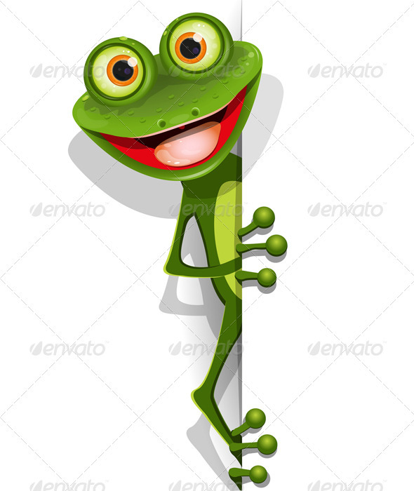 Jolly green frog - Animals Characters