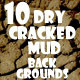10 Dry Cracked Mud Backgrounds - GraphicRiver Item for Sale