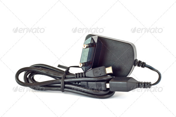 USB charger for mobile phone - Stock Photo - Images