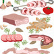 Meat Delicatessen - GraphicRiver Item for Sale