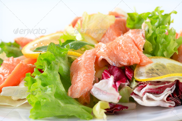 Salmon salad - Stock Photo - Images
