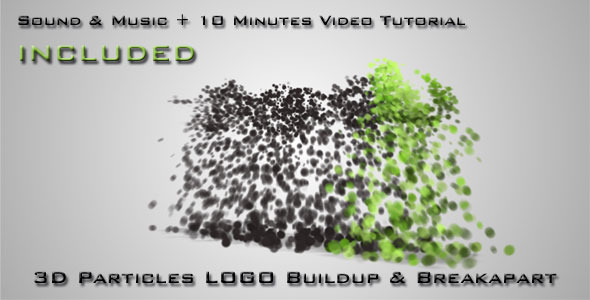 After Effects Project - VideoHive 3D Particles Logo Build Up & Break Apart  ...