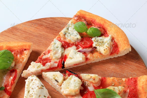 Pizza quattro formaggi - Stock Photo - Images
