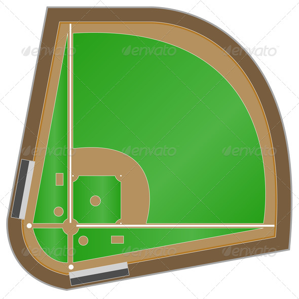Baseball field - Stock Photo - Images