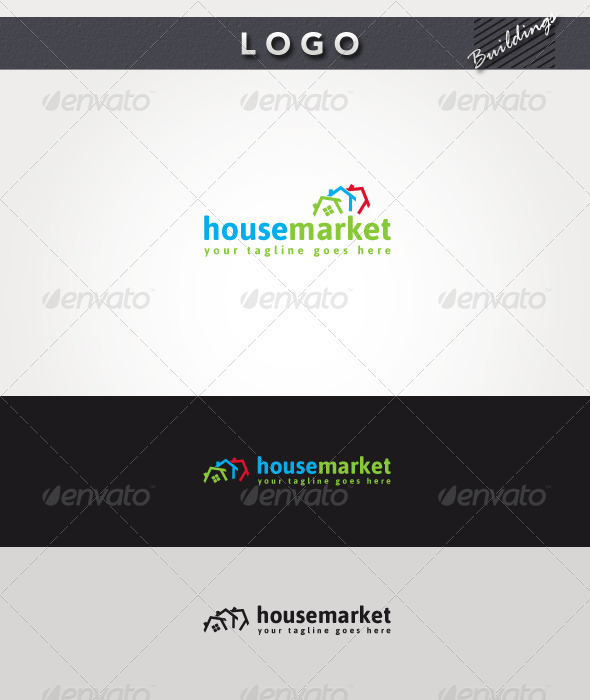 House Market Logo - Buildings Logo Templates