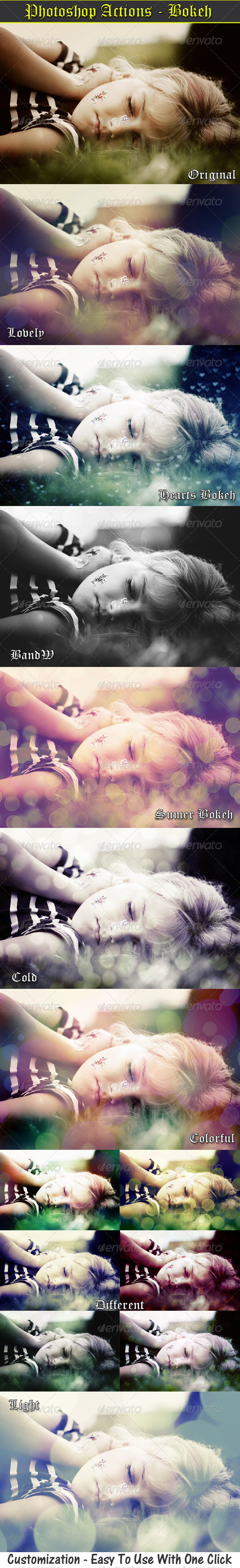 Photo Actions - Bokeh Effects - Photo Effects Actions