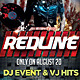 Red Line Party Flyer - GraphicRiver Item for Sale